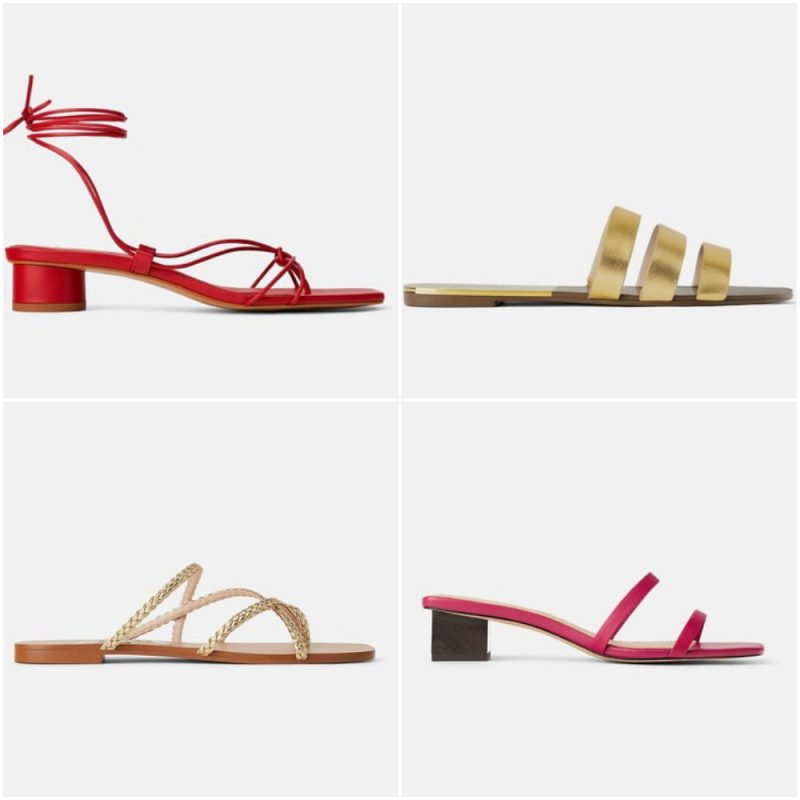 Sandalias planas chatitas elegantes verano 2020 tendencia calzado argentino