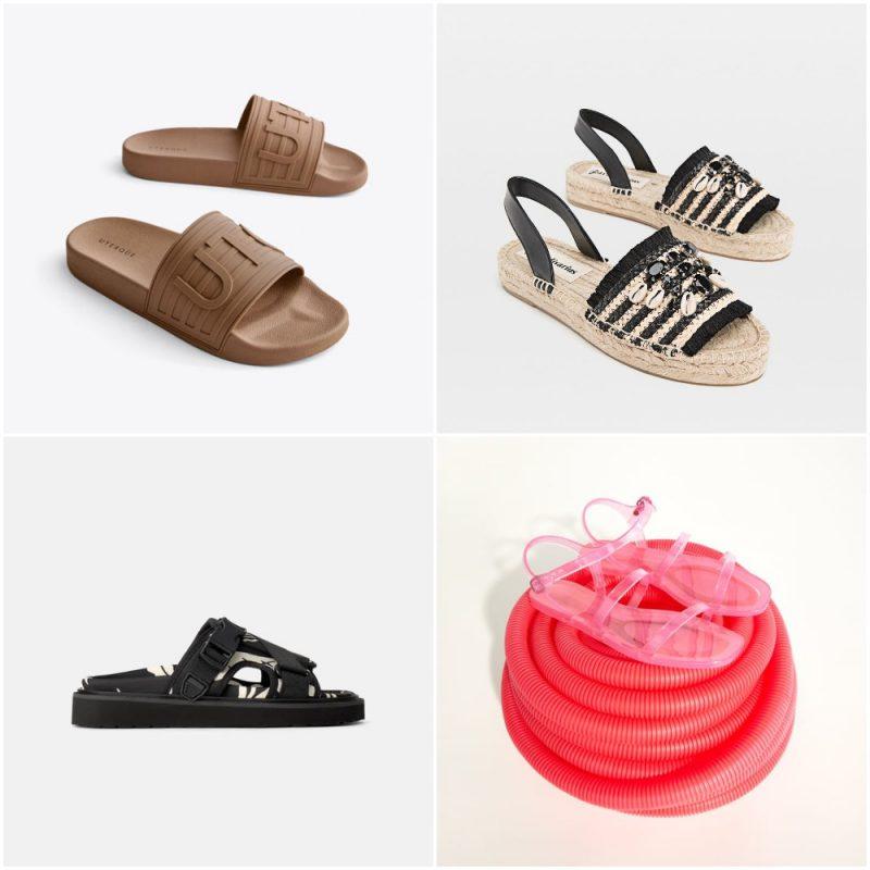 Sandalias planas chatitas verano 2020 tendencia calzado argentino