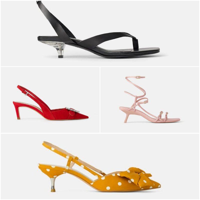 Zapatos y sandalias taco fino y bajo verano 2020 tendencia calzados Argentina