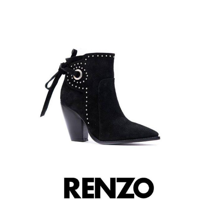 bota de gamusa con minitachas invierno 2019 Renzo Rainero