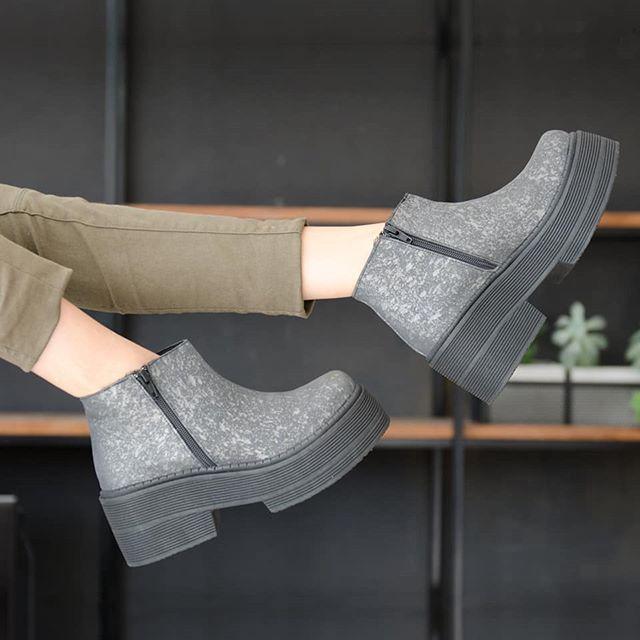 botas grises invierno 2019 MAISON PALOU