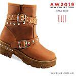botas marrones invierno 2019 Sky Blue