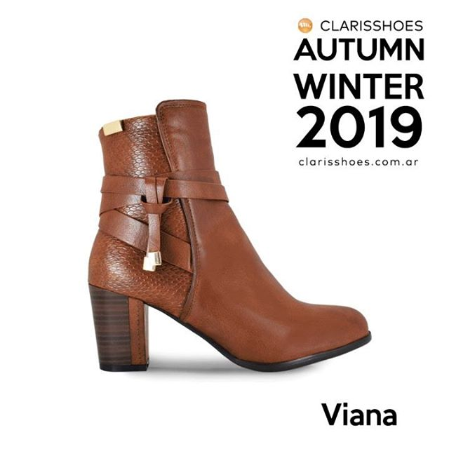 botas marrones taco alto invierno 2019 de Claris Shoes
