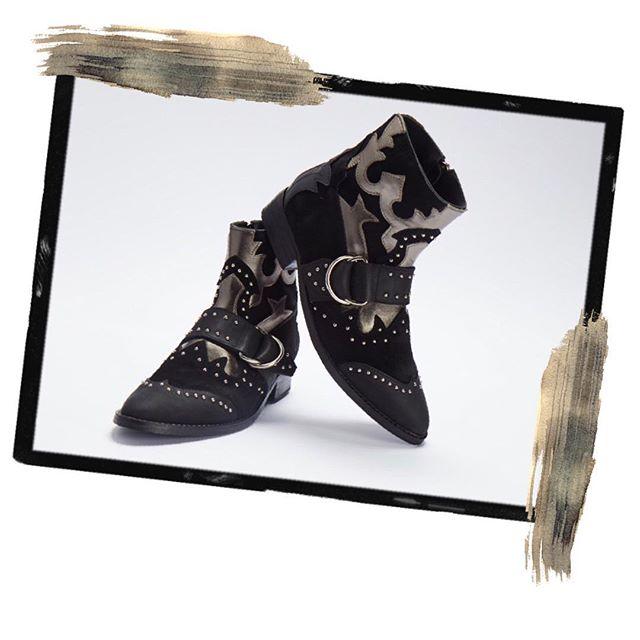 botas negras texanas invierno 2019 Bendito Pie
