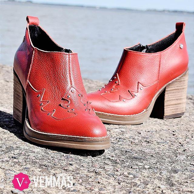 botas texanas rojas invierno 2019 Vemmas