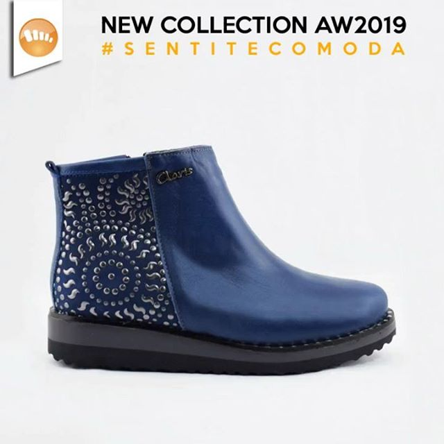botitas azules invierno 2019 de Claris Shoes