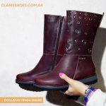 Claris Shoes – Botas de cuero invierno 2019