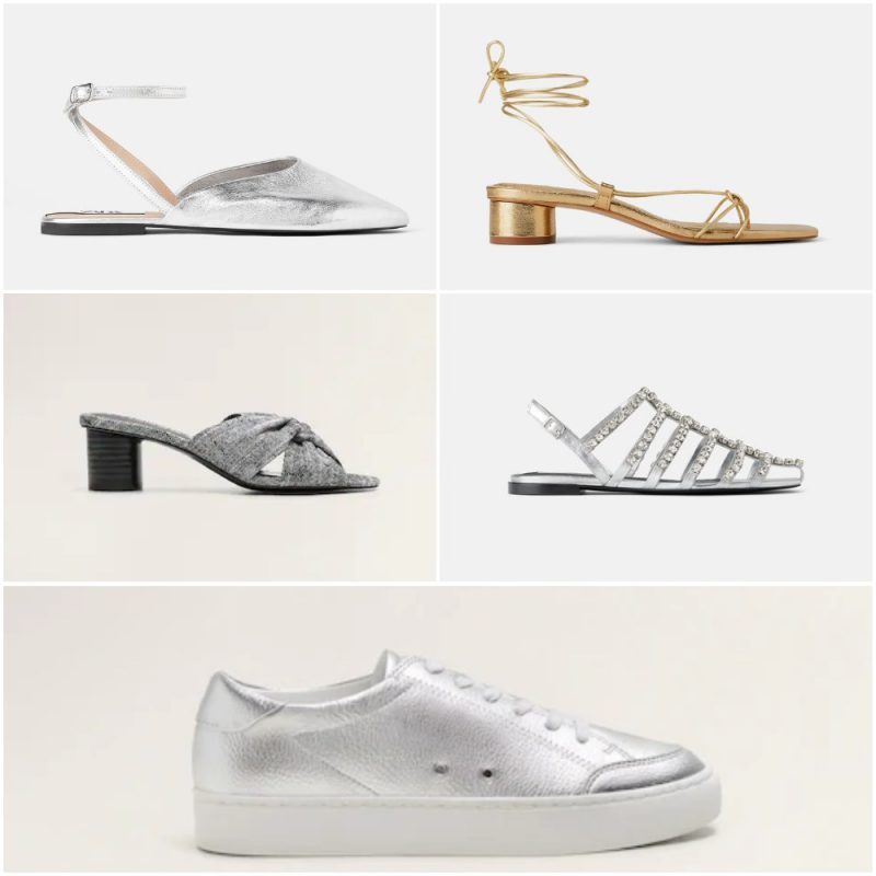 calzados metalizados para el dia verano 2020 tendencia calzados Argentina