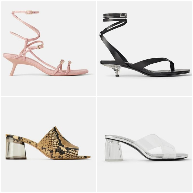 sandalias taco medio verano 2020 tendencia calzado argentino
