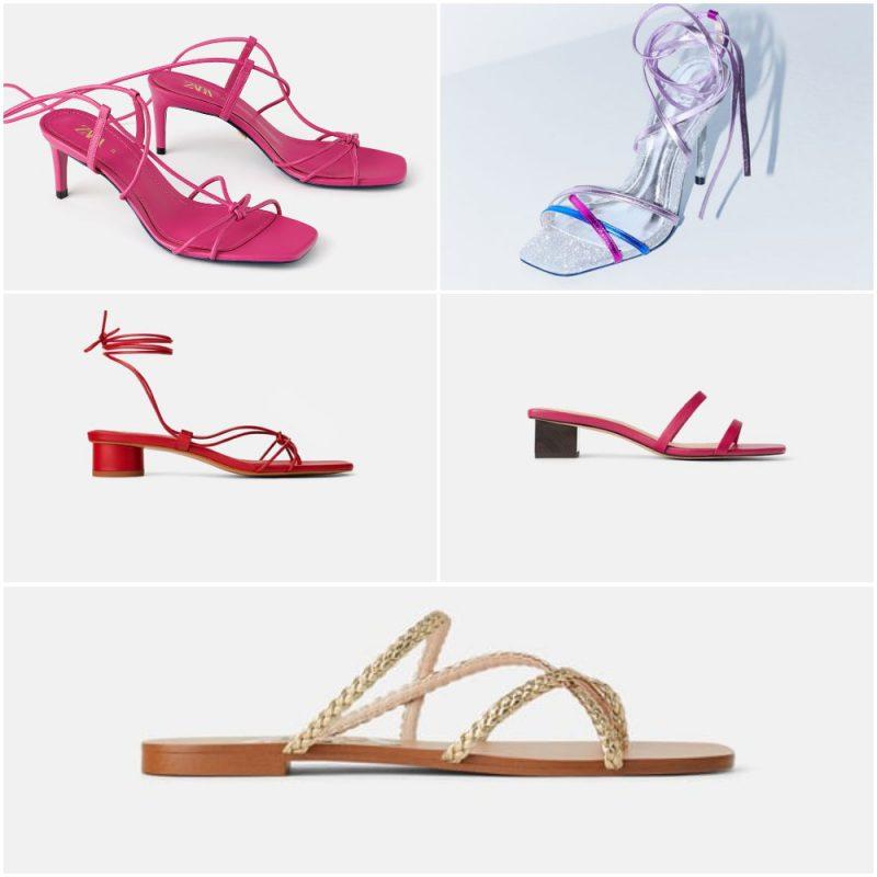 sandalias tiras finas verano 2020 tendencia calzados Argentina