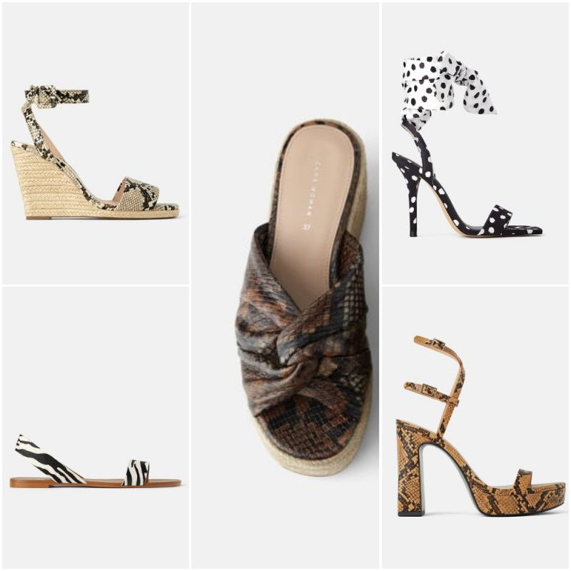 zapatos y sandalias estampados verano 2020 tendencia calzados Argentina