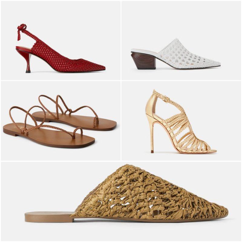 zapatos y sandalias trenzadas verano 2020 tendencia calzados Argentina