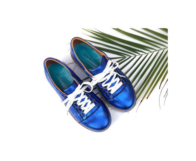 Calzados Bendito Cuero zapatillas de cuero metalizadas primavera verano 2020
