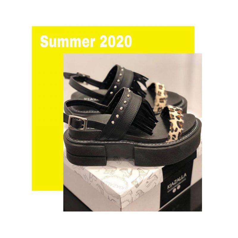 Kiazalla sandalais negras urbanas verano 2020