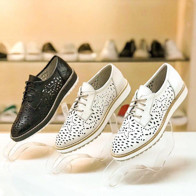 zapatos abotinados calados mujer verano 2020