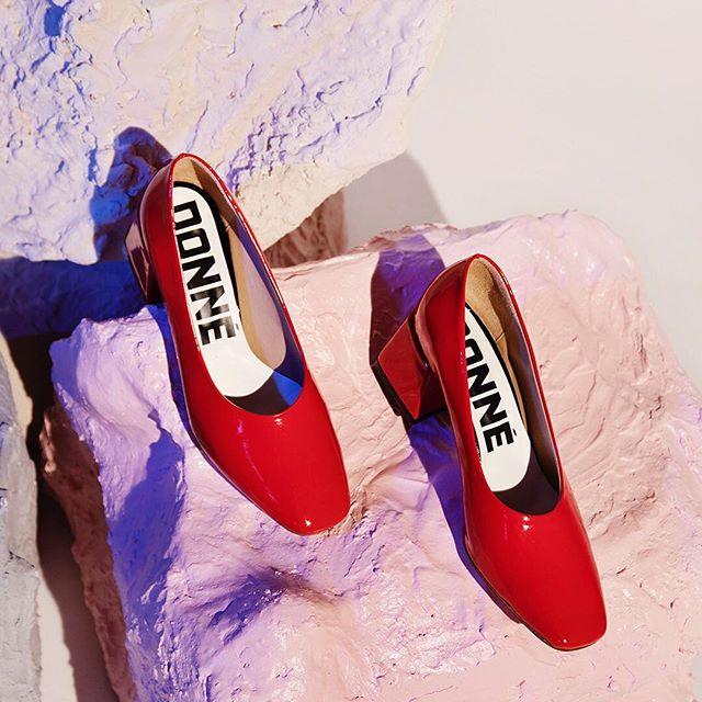 zapatos de charol rojo invierno 2019 DONNE