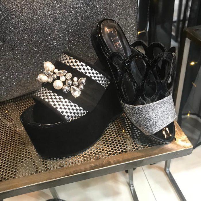 Pietras sandalias negras verano 2020