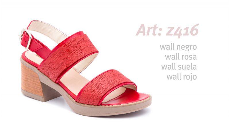 Sandalias rojas primavera verano 2020 Traza