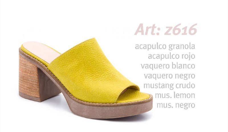 mules amarillas primavera verano 2020 Traza