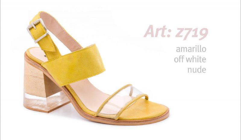 sandalias amarillas y transparentes primavera verano 2020 Traza