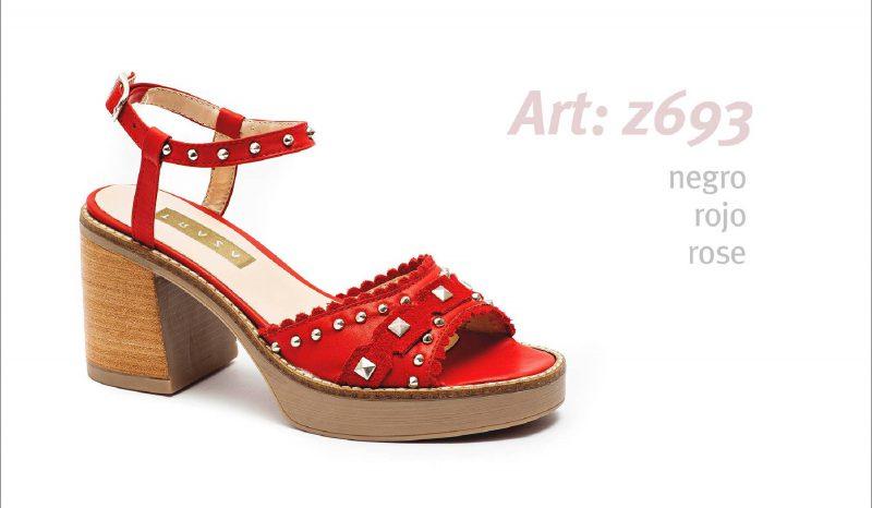 sandalias rojas primavera verano 2020 Traza 2