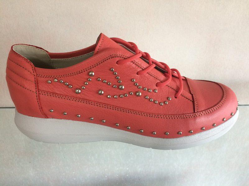 zapatillas de cuero rojas mujer verano 2020 Circle Urbano