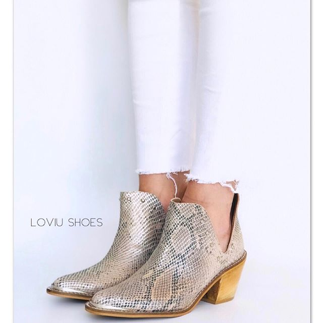 Botiras reptil primavera verano 2020 Loviu Shoes