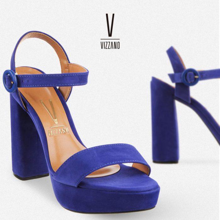 Sandalia alta azul primavera verano 2020 Vizzano