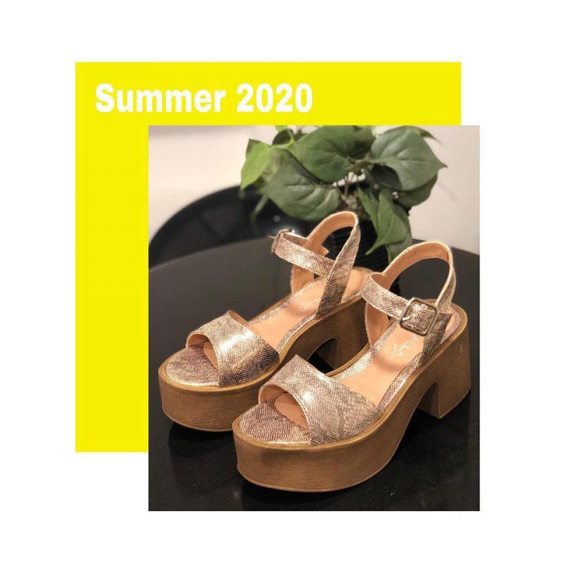 Sandalias con plataformas primavera verano 2020 Kiazalla