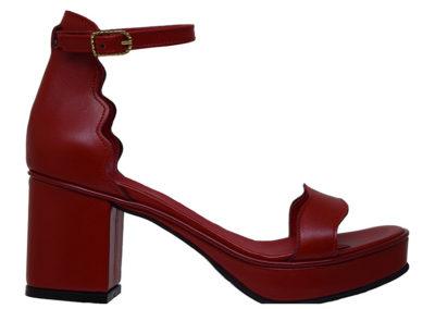 Sandalias rojas Luis XV Kaitz verano 2020