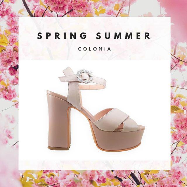 Sandalias rosa alta con plataformas verano 2020 Micheluzzi