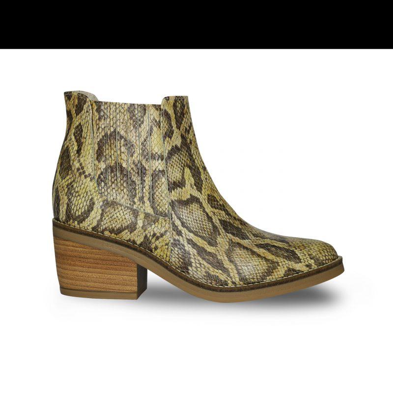 botineta reptil primavera verano 2020 Fiori calzature