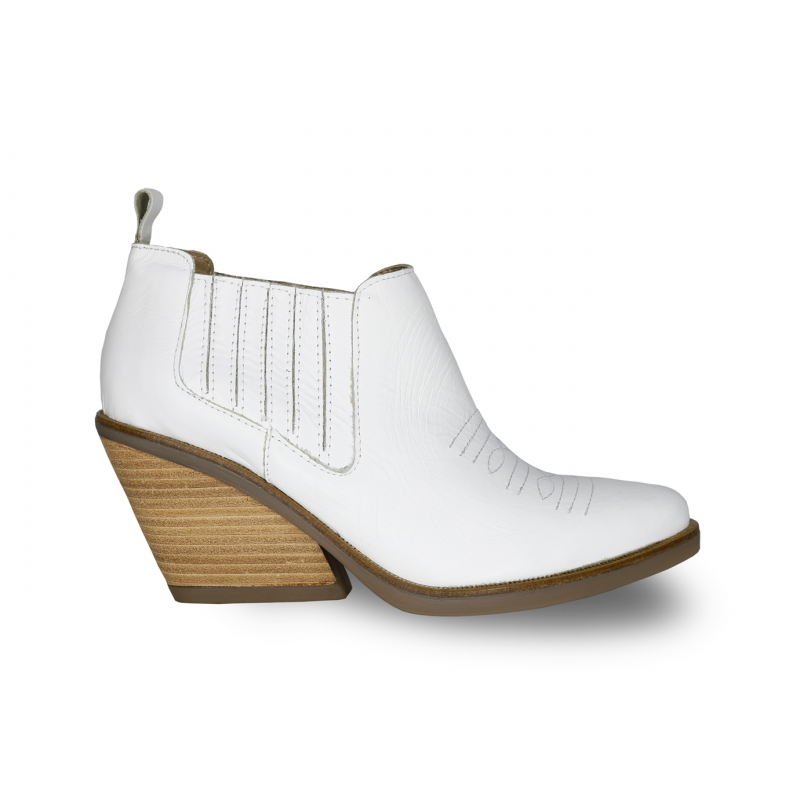 botita blanca texana primavera verano 2020 Fiori calzature