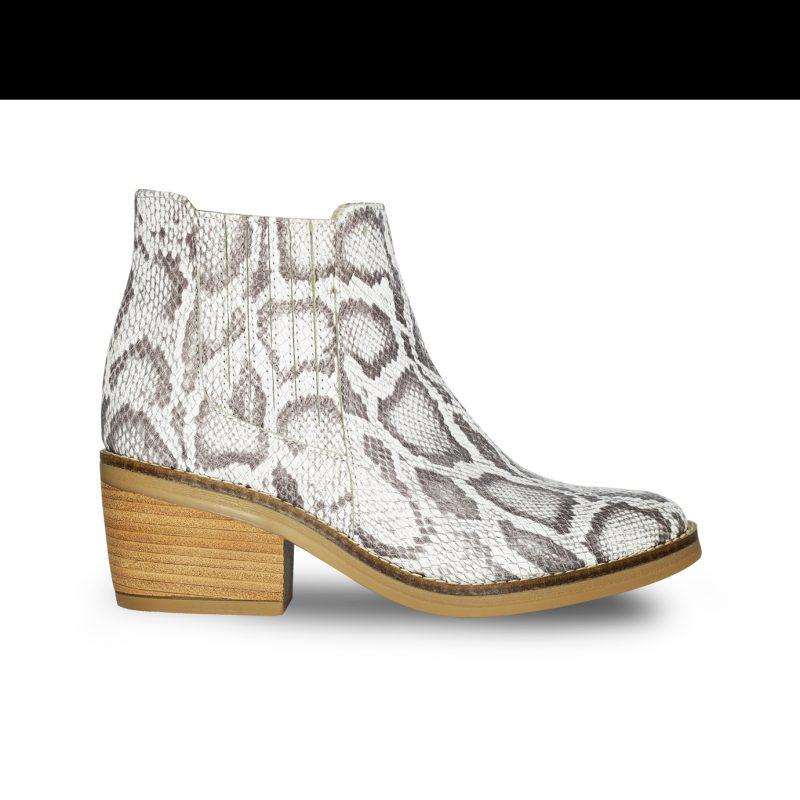 botita reptil gris primavera verano 2020 Fiori calzature