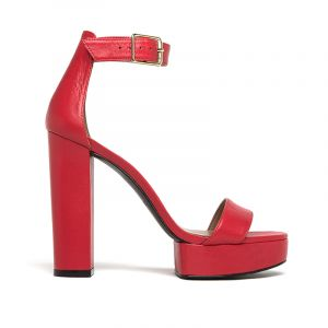 sandalia roja alta primavera verano 2020 Paruolo