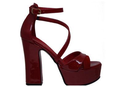 sandalia roja de fiesta Sandalias rojas Luis XV Kaitz verano 2020