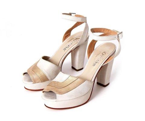 sandalias altas novias 2020 LOMM