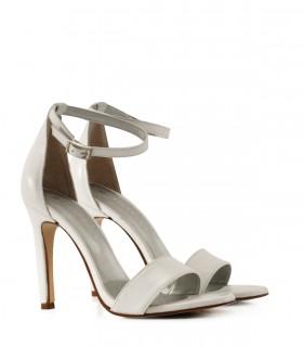 sandalias blancas altas Batistella mujer verano 2020