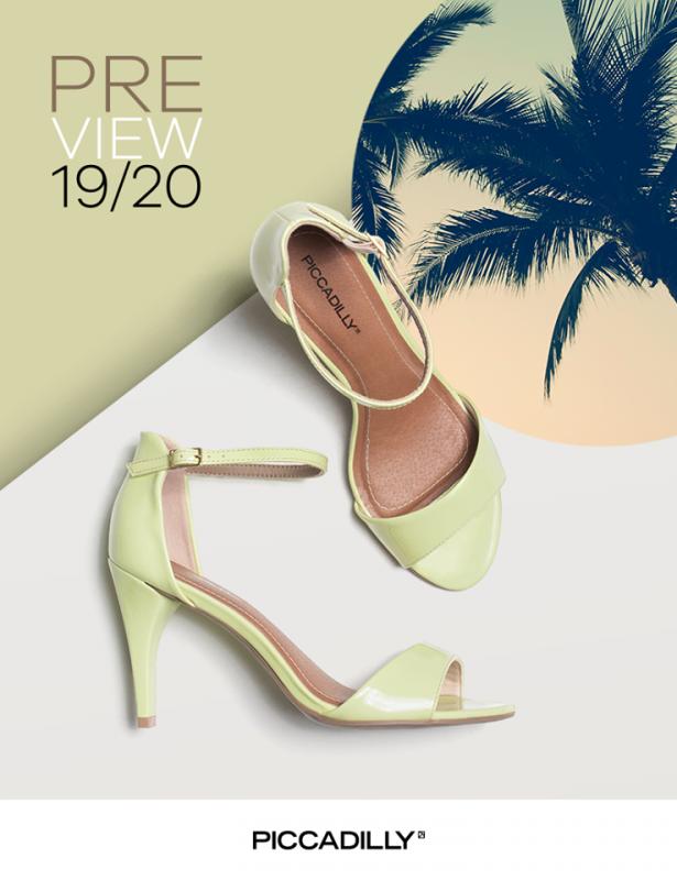 sandalias color lima primavera verano 2020 Piccadilly