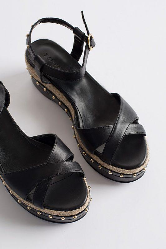 sandalias negras primavera verano 2020 Rapsodia