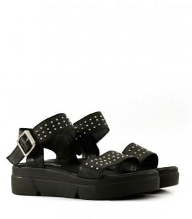 sandalias planas negras Batistella mujer verano 2020