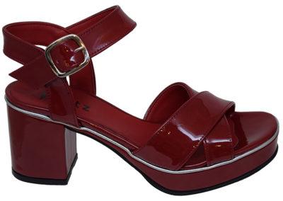 sandalias rojas charol Sandalias rojas Luis XV Kaitz verano 2020