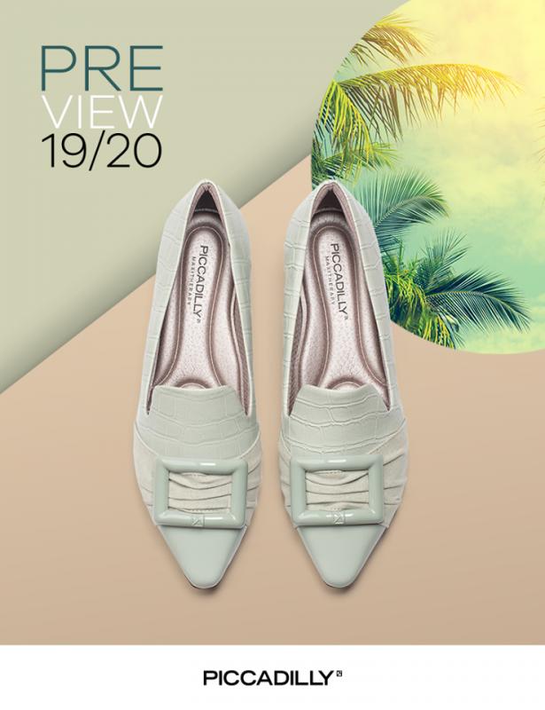 zapatos color menta primavera verano 2020 Piccadilly