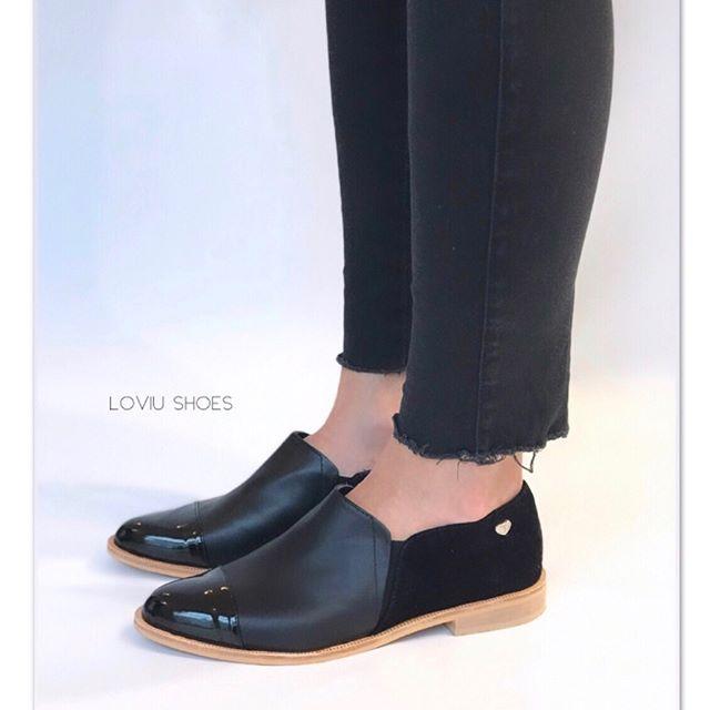 zapatos negros planos para mujer primavera verano 2020 Loviu Shoes