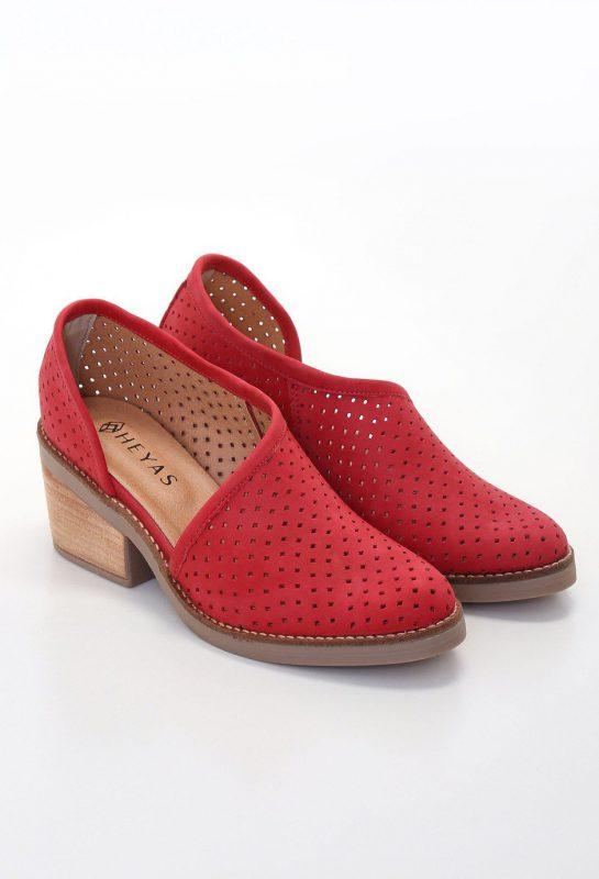 zapatos rojos calados verano 2020 Heyas calzado