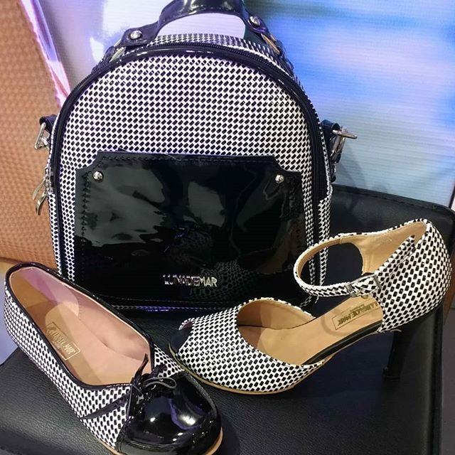 zapatos y mochila a cruadros verano 2020 Luna de Mar