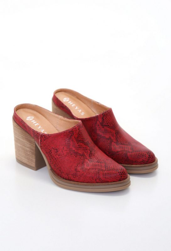 zauecos reptil rojo verano 2020 Heyas calzado