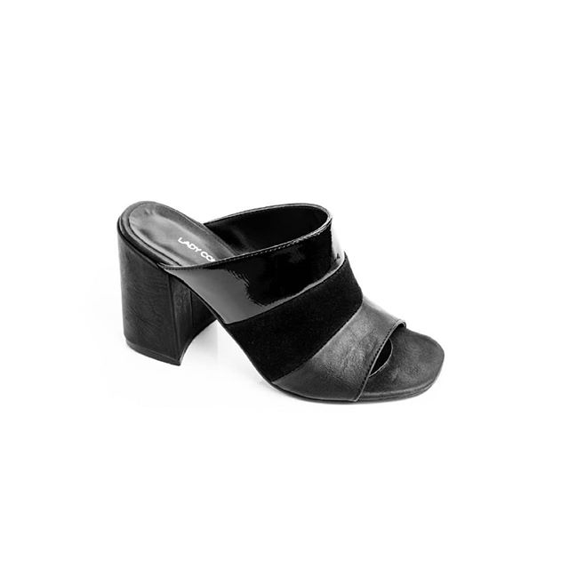 zuecos negros primavera verano 2020 Lady Comfort