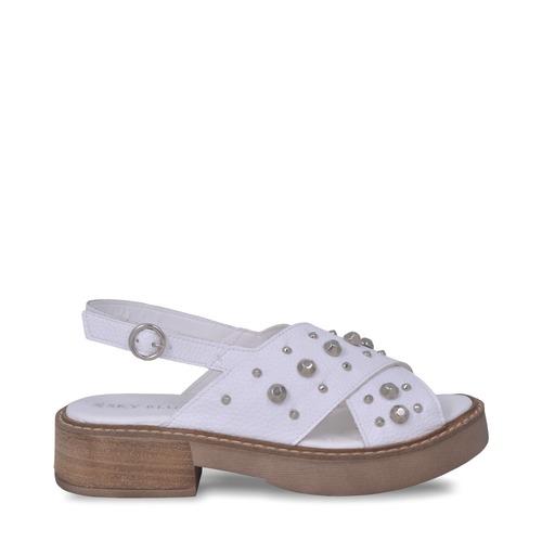 Sandalias blancas con tachas verano 2020 Sky Blue
