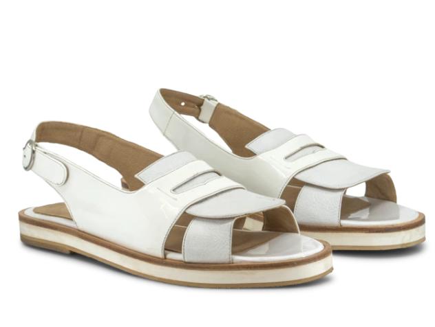 Sandalias blancas planas verano 2020 Chwala
